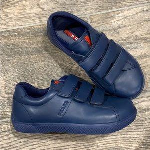Blue Prada sneakers